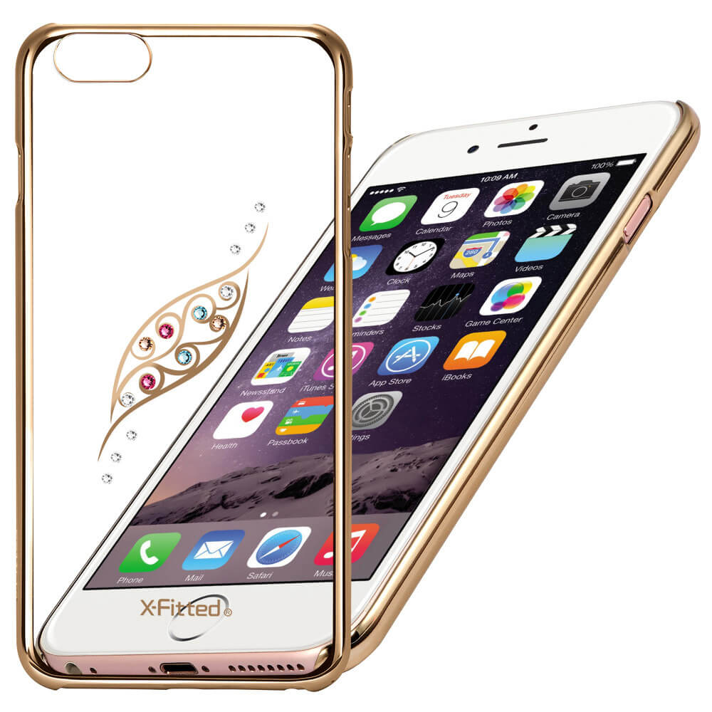 X-FITTED SWAROVSKI obal Apple iPhone 6 Plus / 6S Plus zlatý (0053)