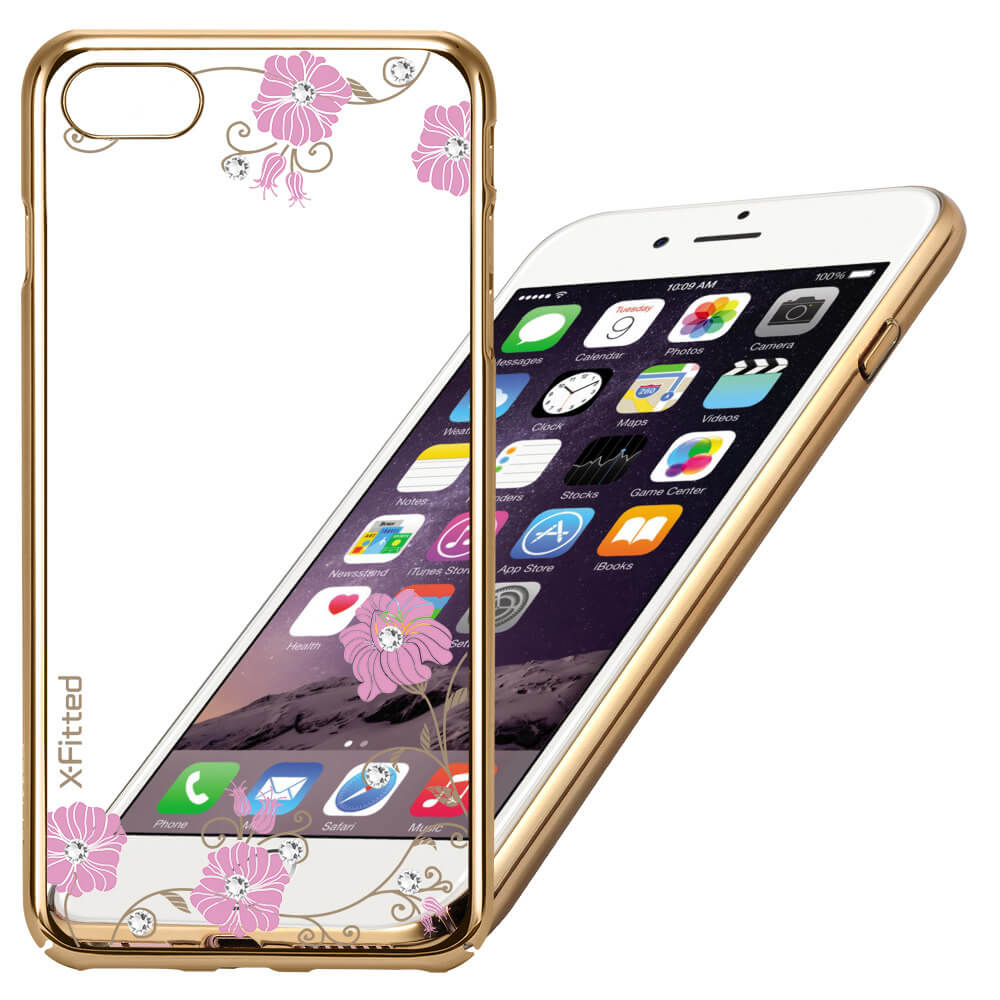 X-FITTED SWAROVSKI obal Apple iPhone 6 Plus / 6S Plus zlatý (0054)