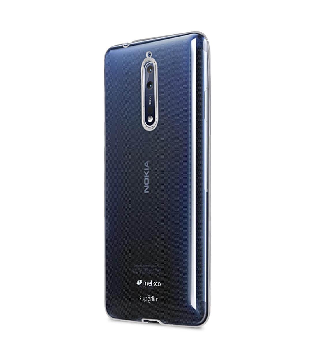 FORCELL Silikonový obal Nokia 8 průhledný c8708fc3627