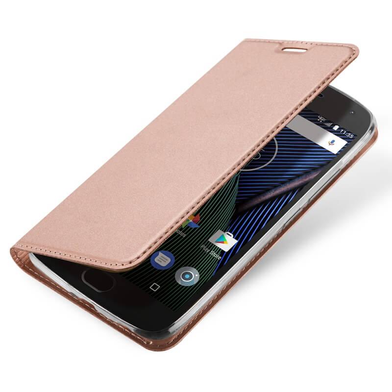 FORCELL DUX Flipové púzdro Lenovo Moto G5S Plus ružové