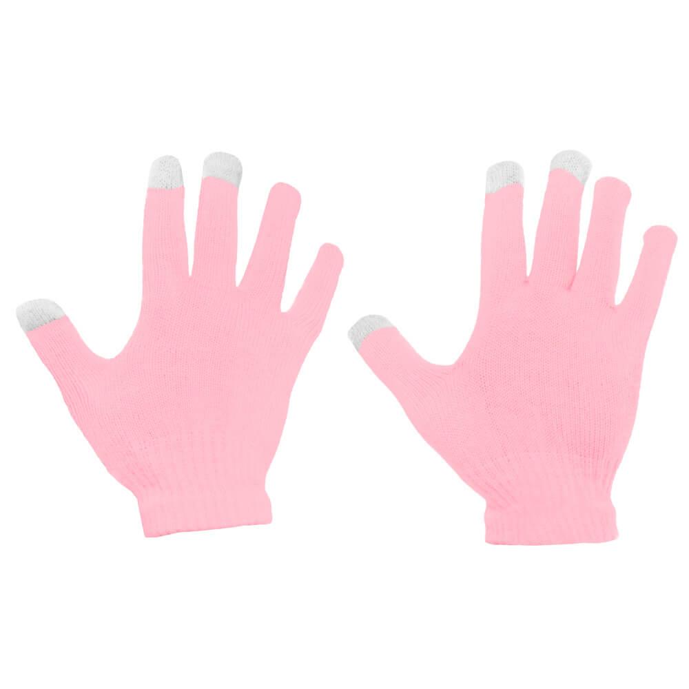 Dotykové rukavice na telefon růžové