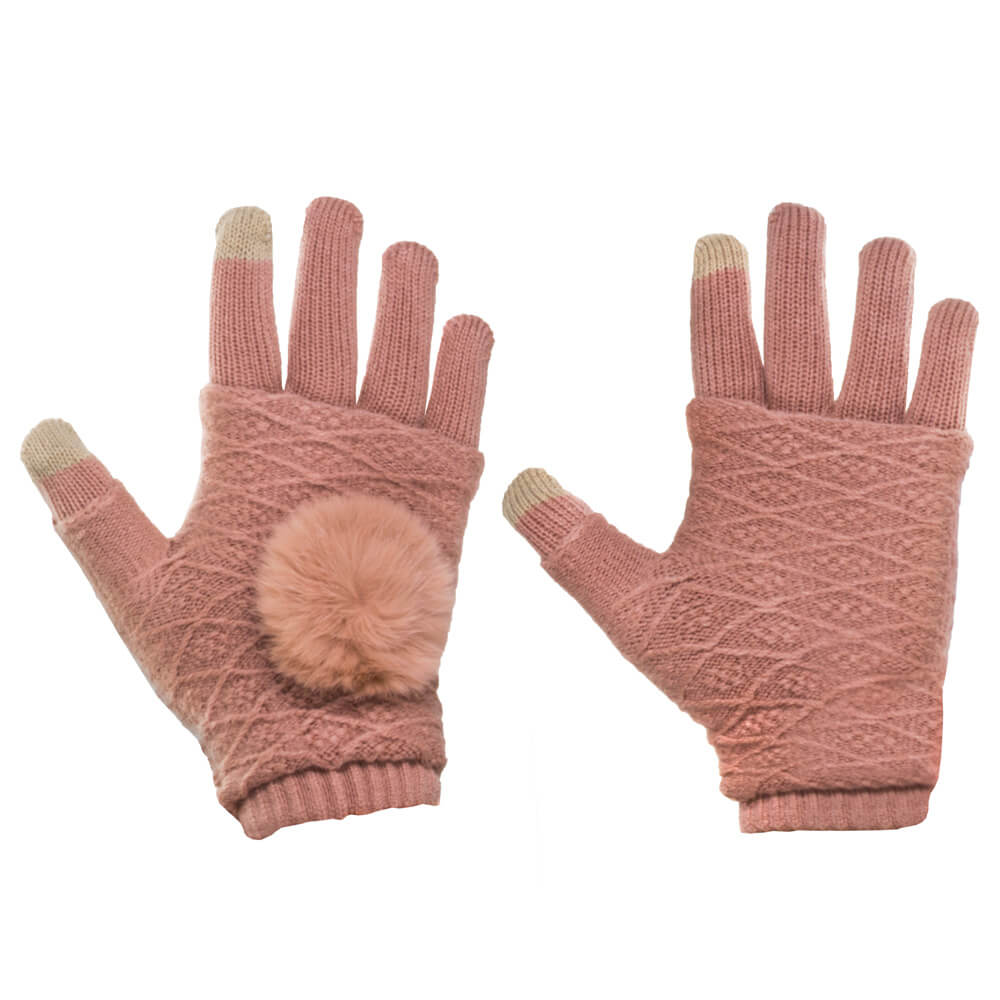 FORCELL Dotykové rukavice na telefón ružové