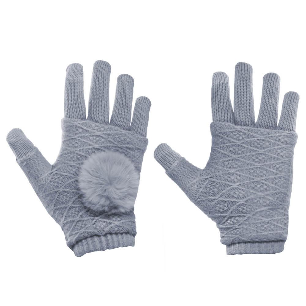 FORCELL Dotykové rukavice na telefón šedé