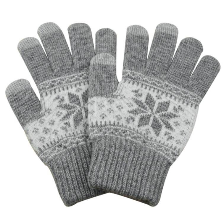 FORCELL Dotykové rukavice na telefón sivé