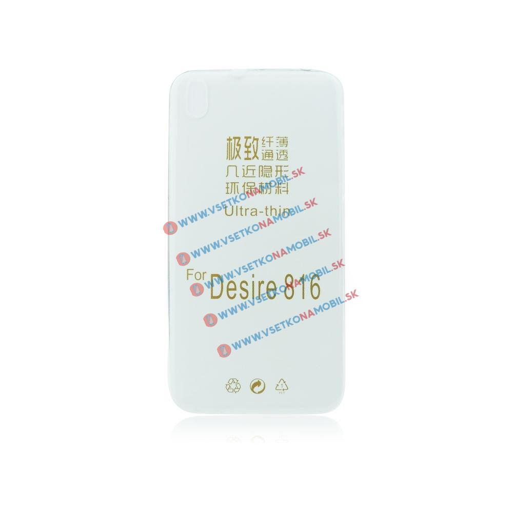 FORCELL Silikonový obal HTC Desire 816 průhledný