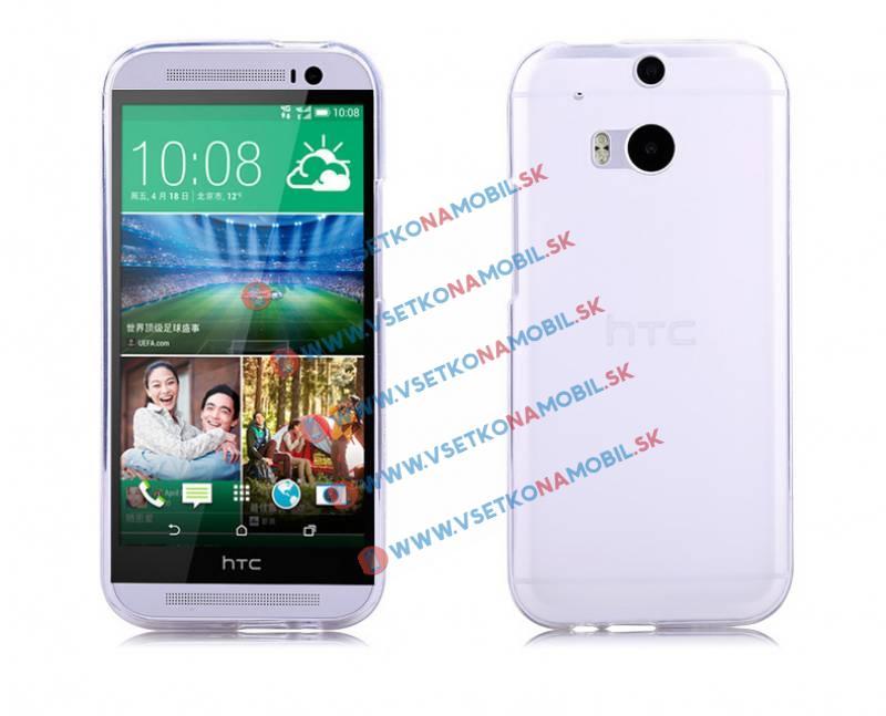 FORCELL Silikonový obal HTC One M8 průhledný