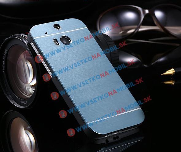 Hliníkový kryt HTC One M8 modrý