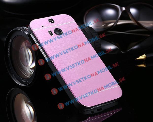 Hliníkový kryt HTC One M8 ružový