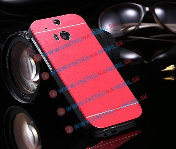 Hliníkový kryt HTC One M8 červený