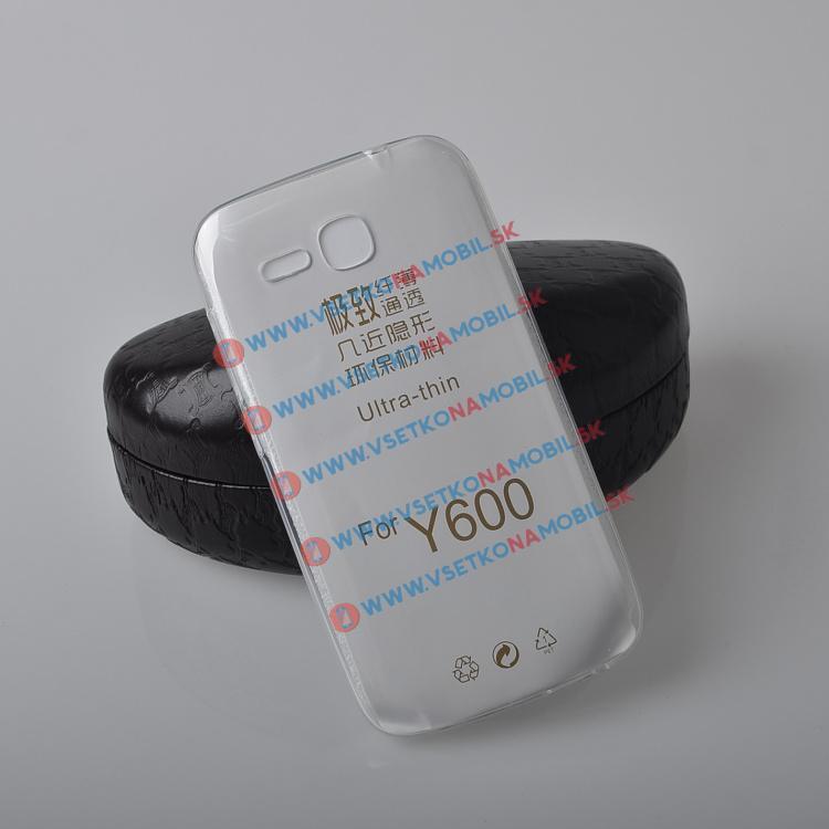 FORCELL Silikónový obal Huawei Y600 priehľadný