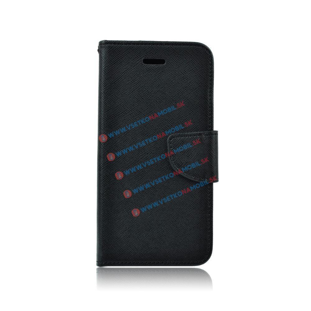 FANCY Peňaženkové flip púzdro Lenovo A6000/6010 čierne