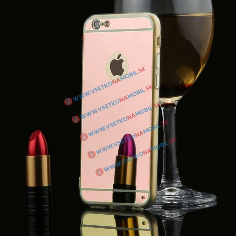 FORCELL Zrkadlový silikónový obal iPhone 6 / 6S ružový