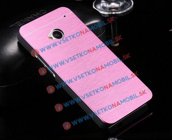 Hliníkový kryt HTC One M7 ružový