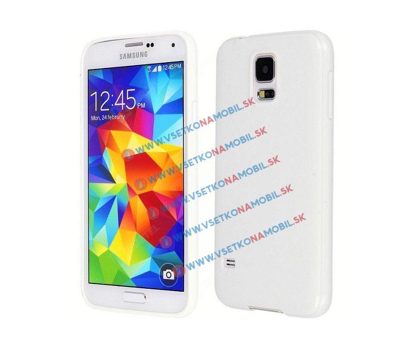 Silikonový kryt Samsung Galaxy S5 JELLY bílý
