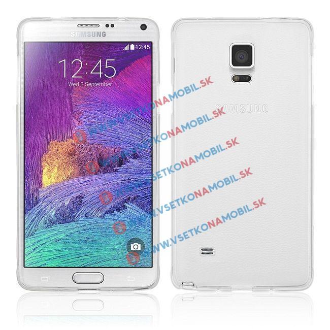 FORCELL Silikonový obal Samsung Galaxy Note 4 průhledný