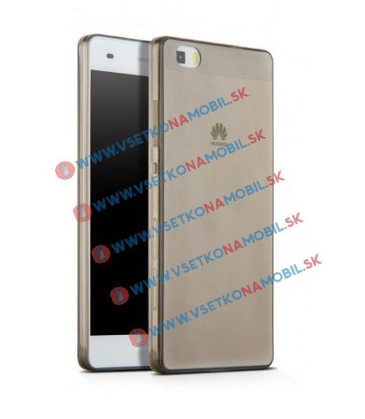 Silikónový obal Huawei P8 lite šedý