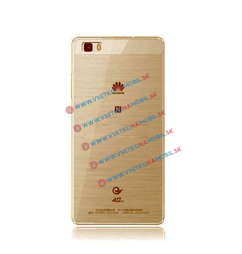 Silikónový obal Huawei P8 zlatý