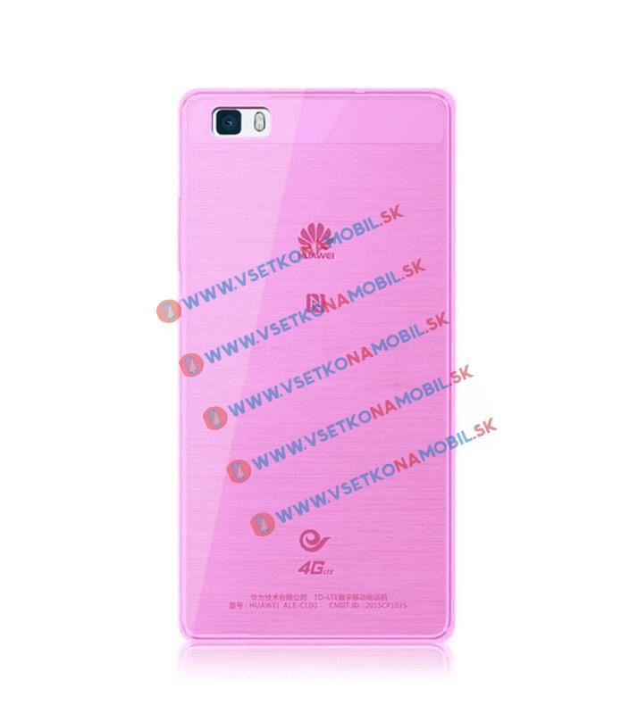 Silikónový obal Huawei P8 ružový