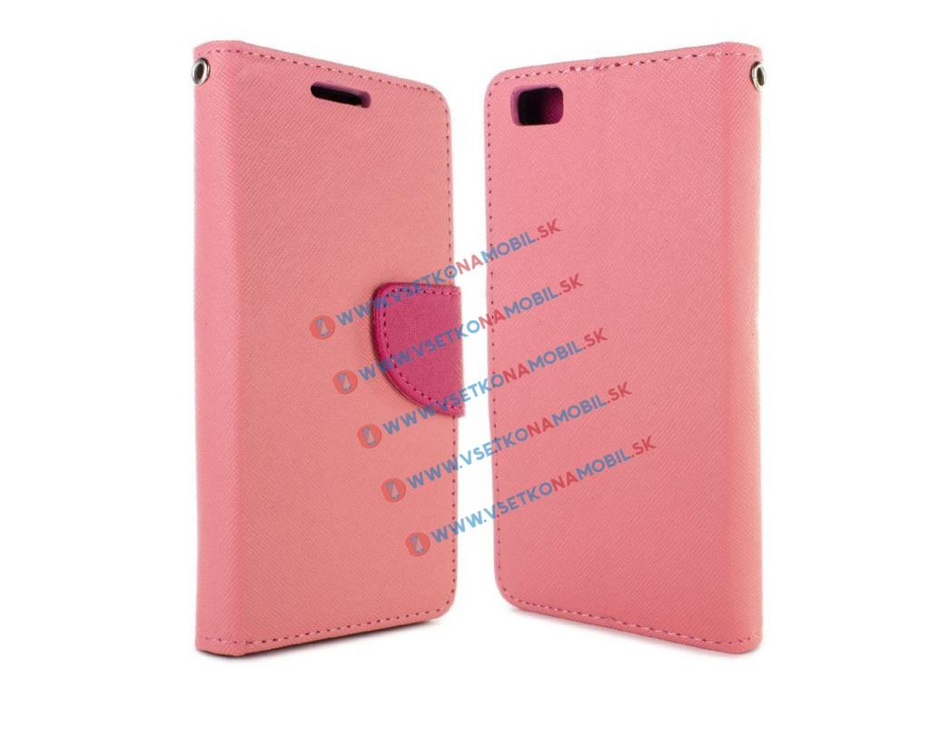FANCY Peňaženkové flip pouzdro Huawei P8 lite PINK