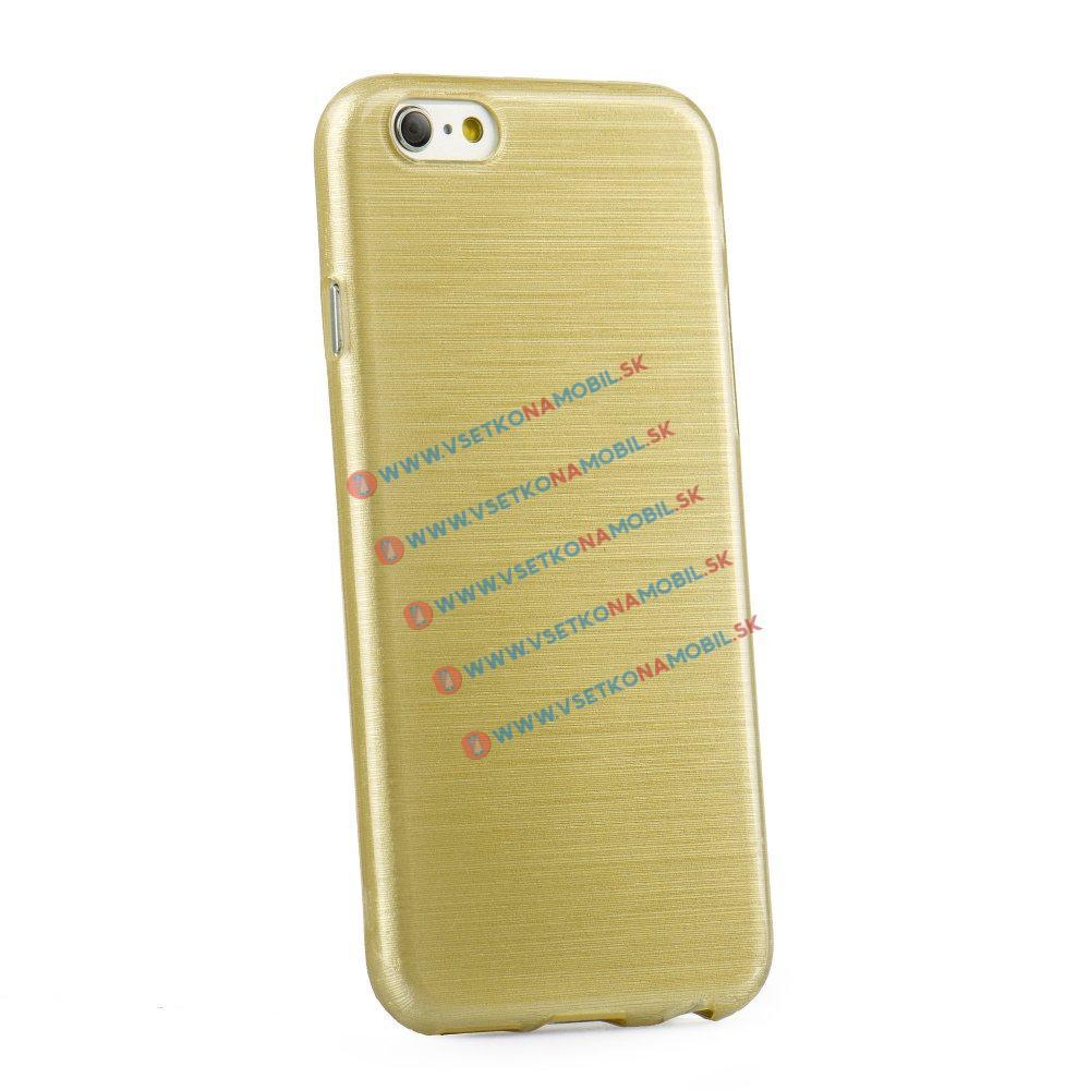 FORCELL Silikónový obal iPhone 5 / 5S / SE zlatý BRUSH