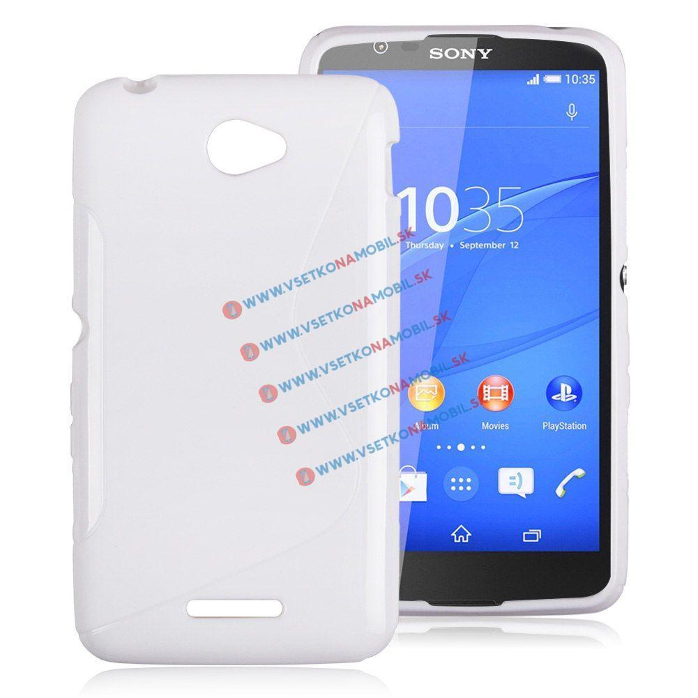 Silikonový obal Sony Xperia E4 bílý