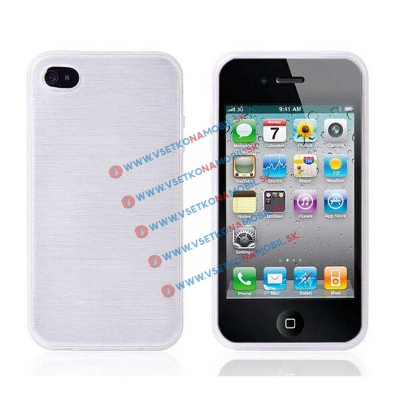 FORCELL Silikonový obal iPhone 4 / 4S bílý