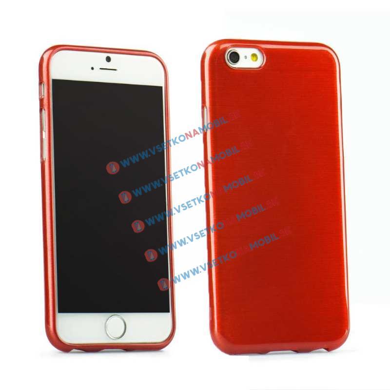 FORCELL Silikónový obal iPhone 6   6S červený BRUSH 5b9e6e136c6