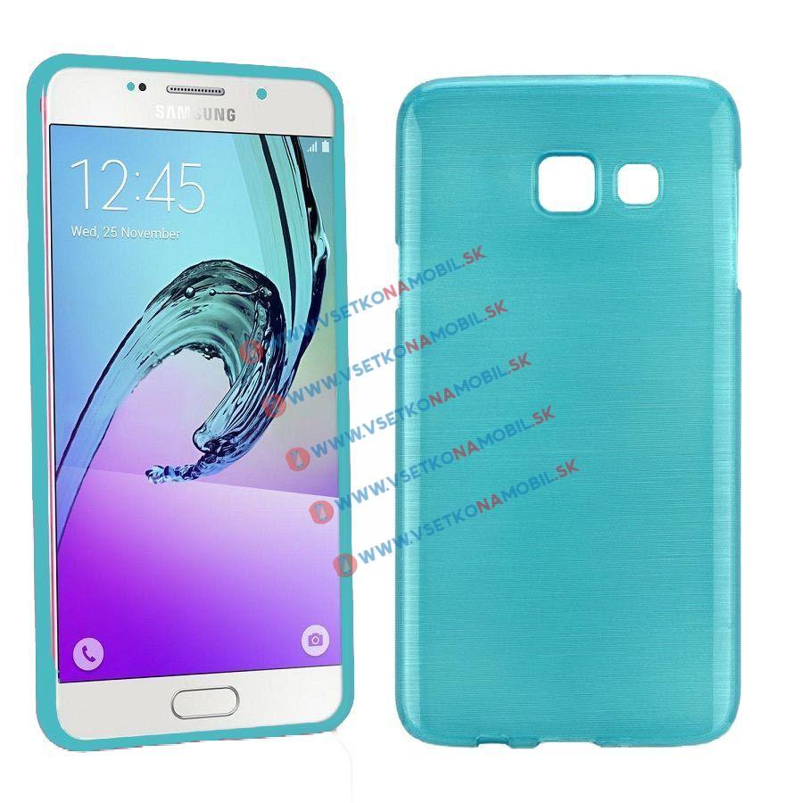 Silikónový obal Samsung Galaxy A5 2016 modrý BRUSH