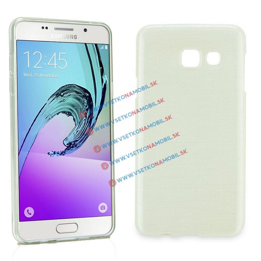 Silikónový obal Samsung Galaxy A5 2016 biely BRUSH