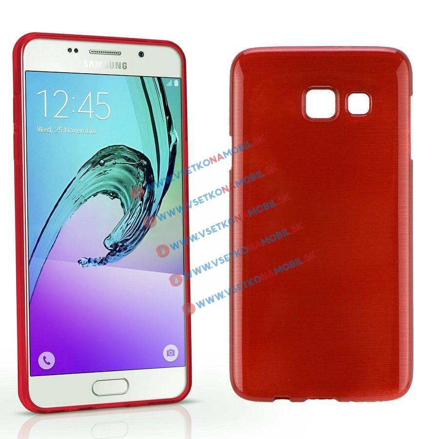 Silikónový obal Samsung Galaxy A5 2016 červený BRUSH