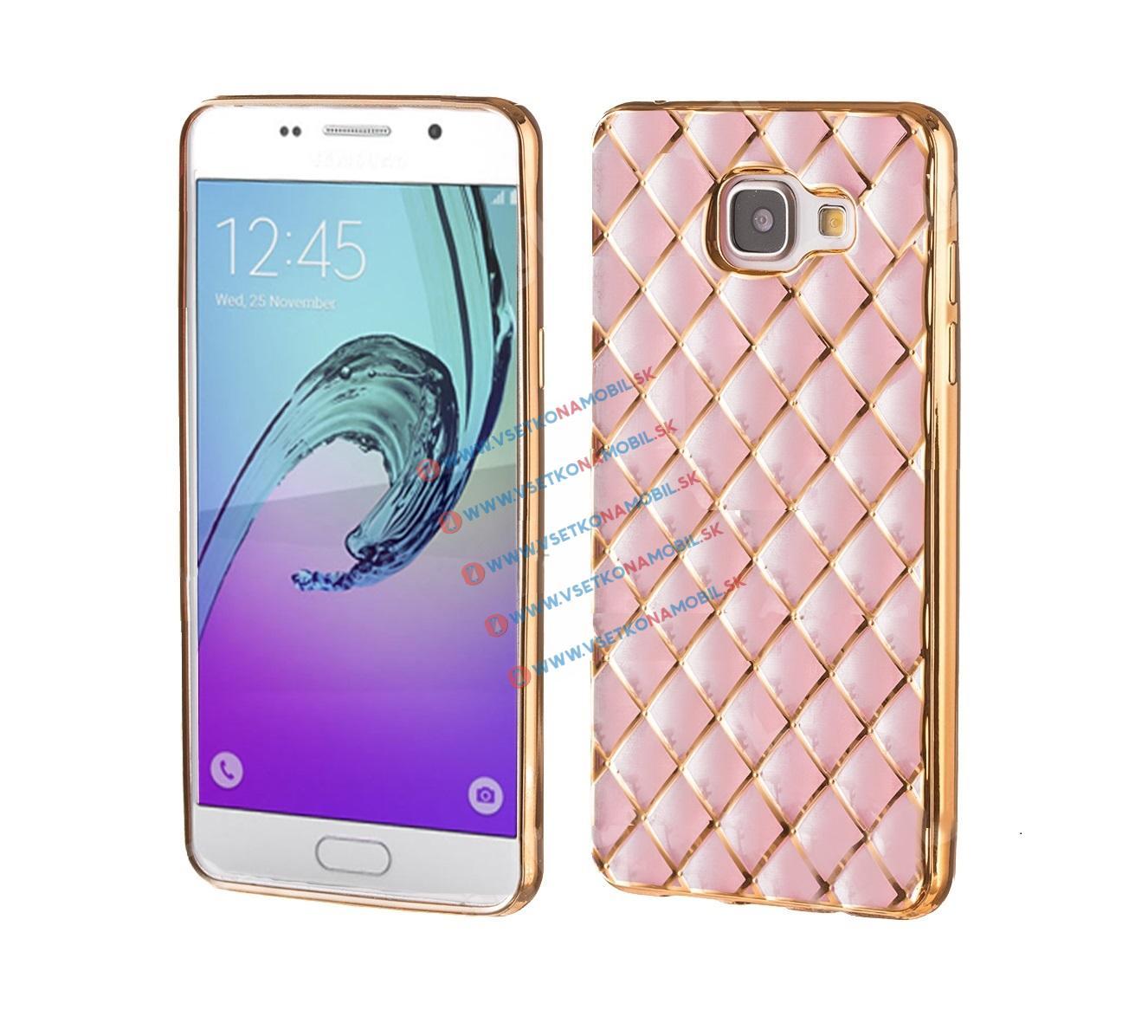FORCELL Silikónový obal Samsung Galaxy A5 2016 ružový LUXURY