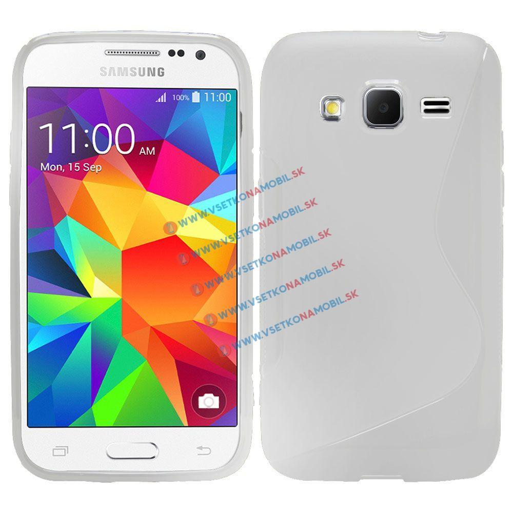 Silikonový obal Samsung Galaxy Ace 4 bílý