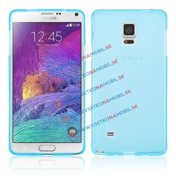 Silikónový obal Samsung Galaxy Note 4 modrý
