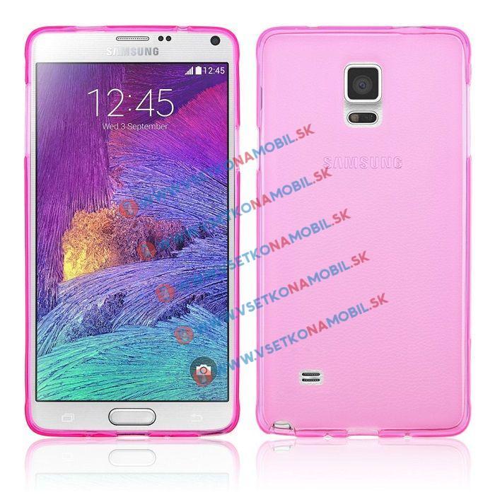 FORCELL Silikonový obal Samsung Galaxy Note 4 růžový