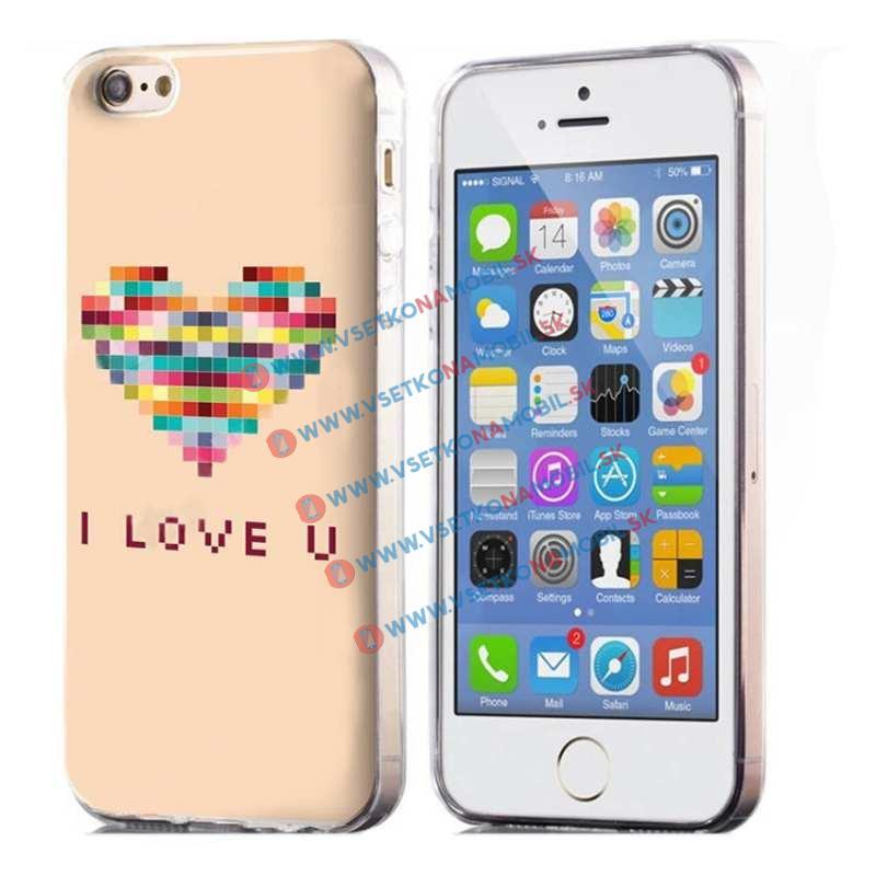 FORCELL Silikónový obal iPhone 5 / 5S / SE LOVE