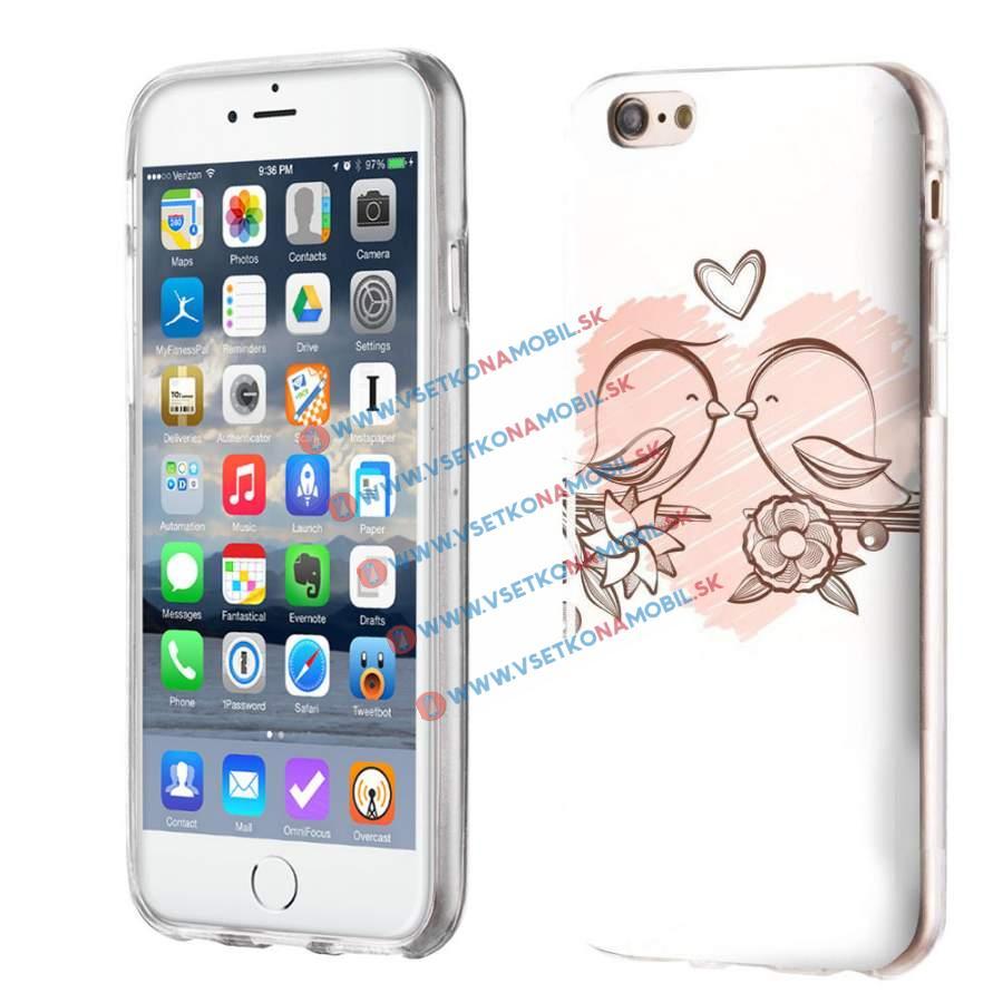 FORCELL Silikónový obal iPhone 6 / 6S BIRDS