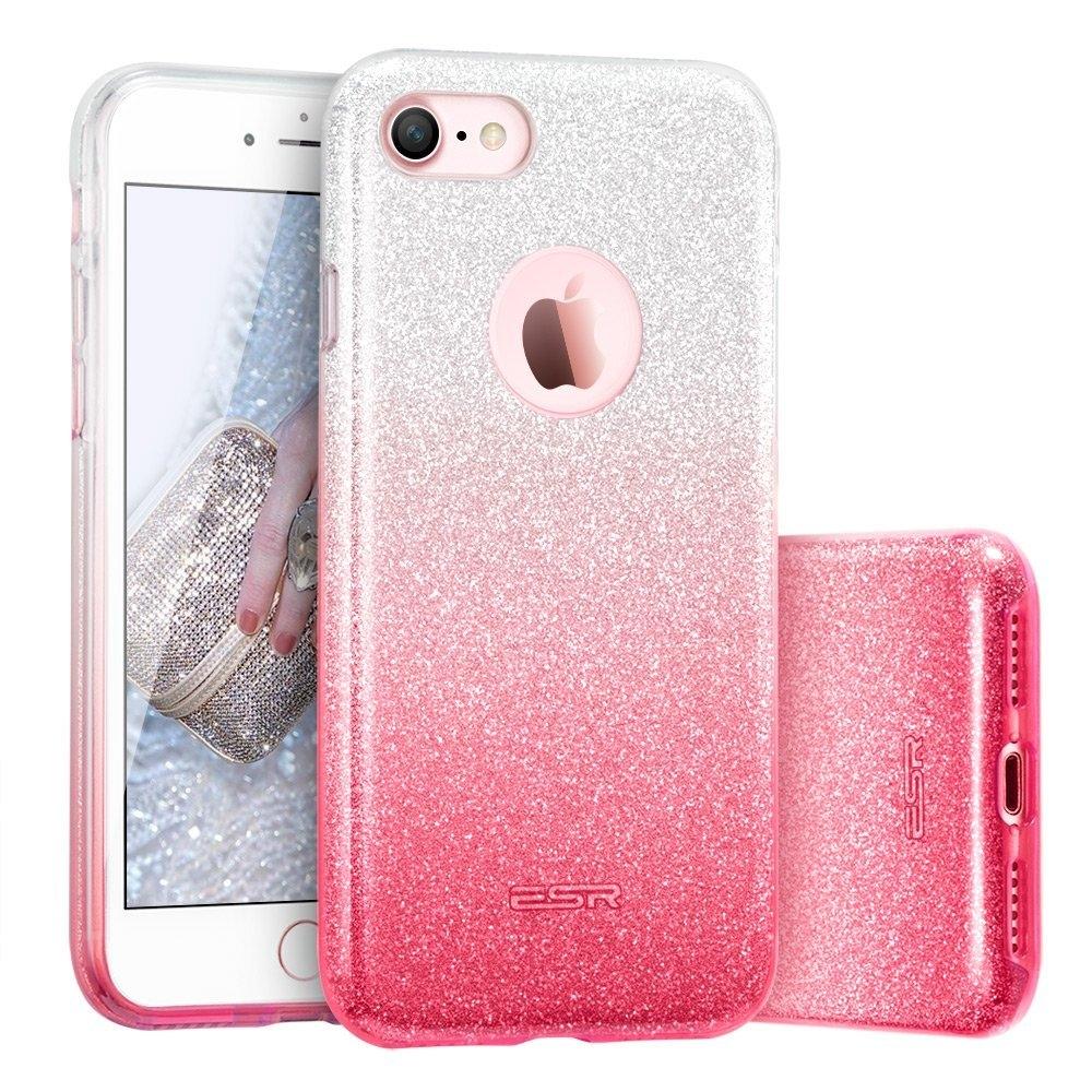 FORCELL SHINING Ochranný obal Apple iPhone 5 / 5S / SE růžovo-stříbrný