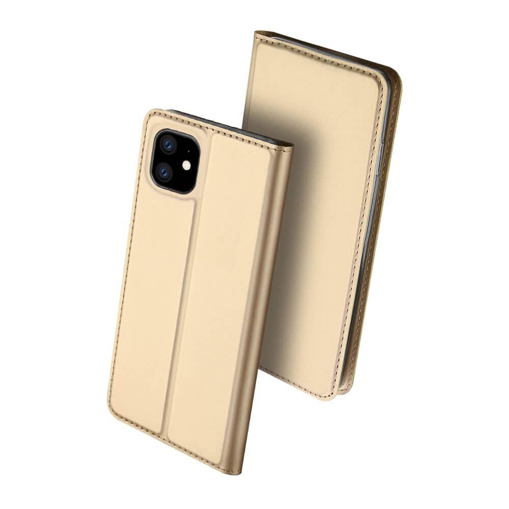 Levně DUX Peňaženkový obal Apple iPhone 11 zlatý