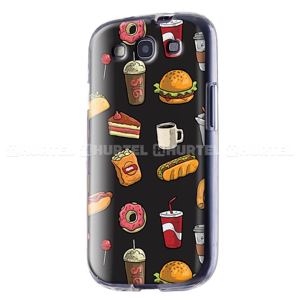 FORCELL ART TPU Silikónový obal Samsung Galaxy S3 FAST FOOD