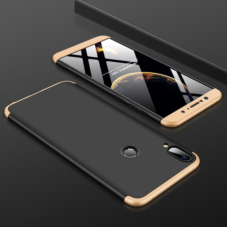 FORCELL 360 ° Ochranný obal Zenfone Max Pro (M1) ZB601KL / ZB602KL černý (zlatý)
