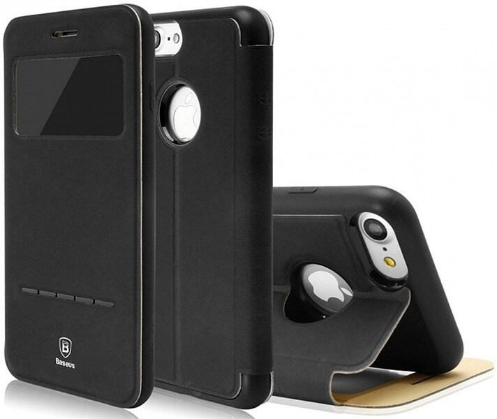 BASEUS SIMPLE LEATHER obal Apple iPhone 7 Plus čierny