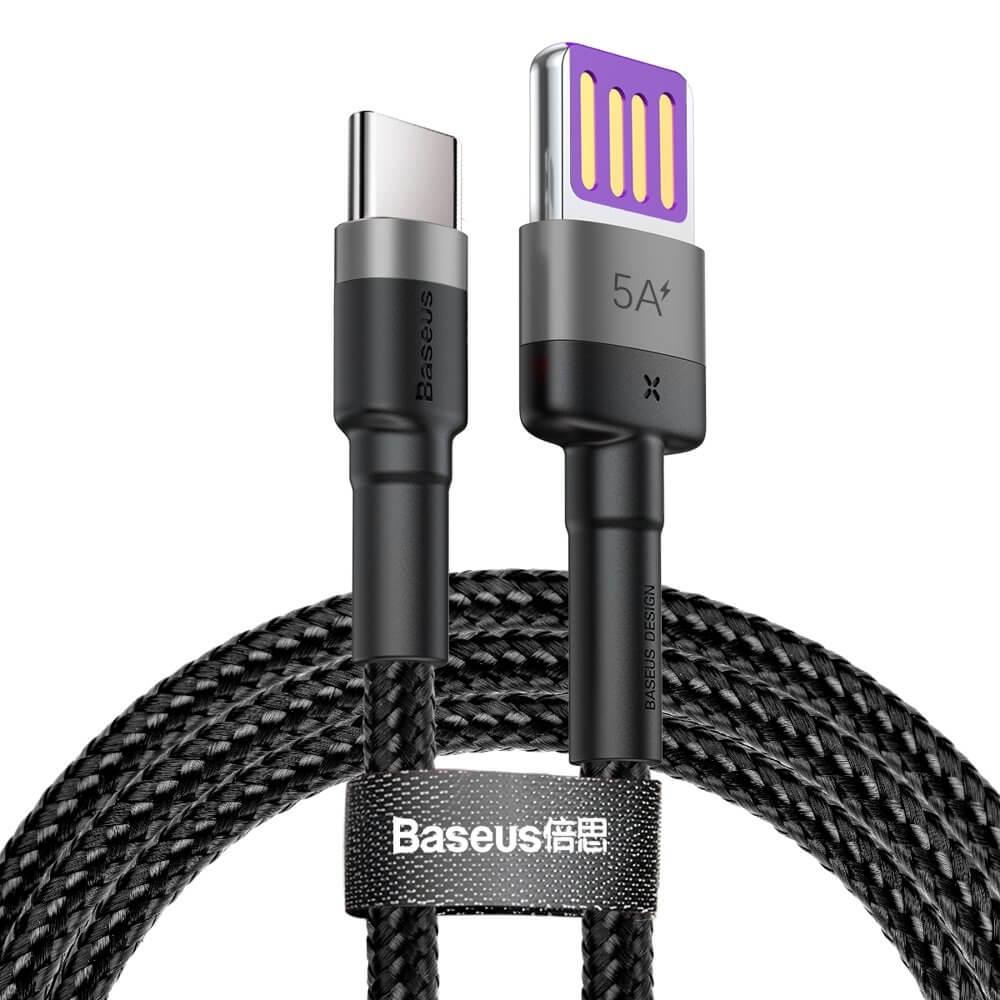 BASEUS CAFULE 40W dátový kábel USB Typ-C čierny