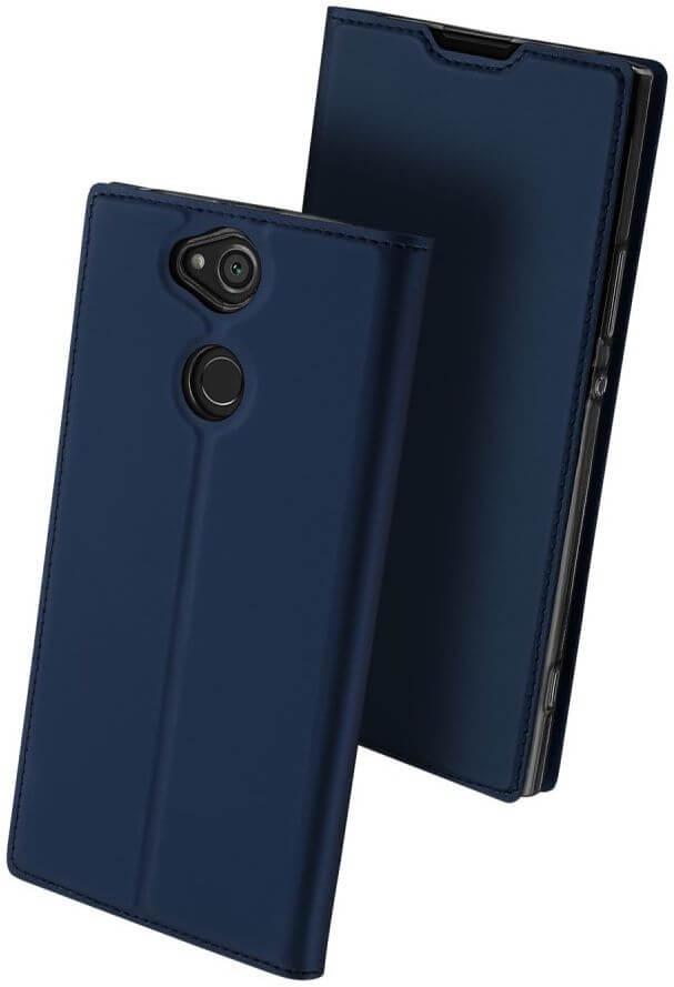 DUX Peňaženkový obal Sony Xperia XA2 Plus modrý