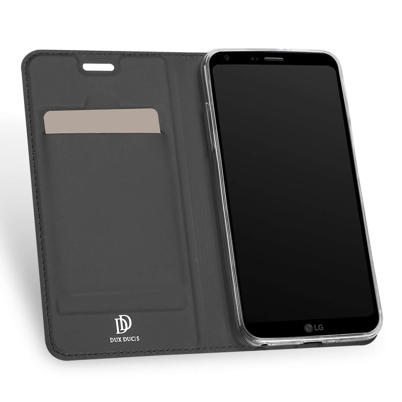 DUX flipové pouzdro LG Q6 šedé