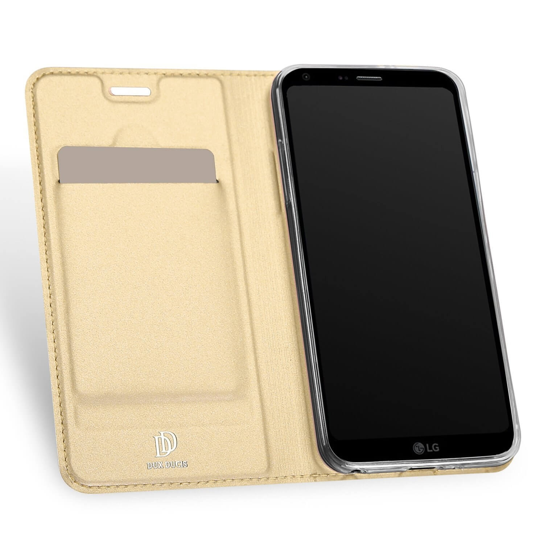 DUX flipové pouzdro LG Q6 zlaté