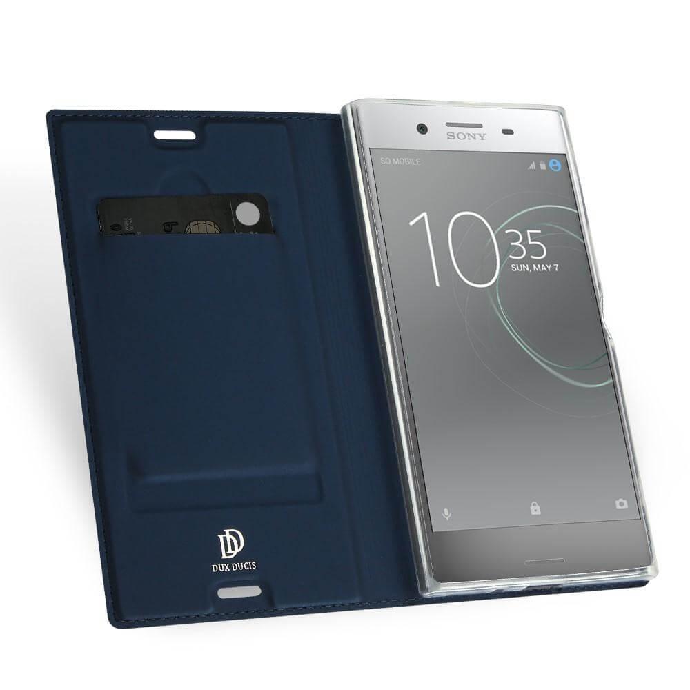 DUX Flipové púzdro Sony Xperia XZ Premium modré