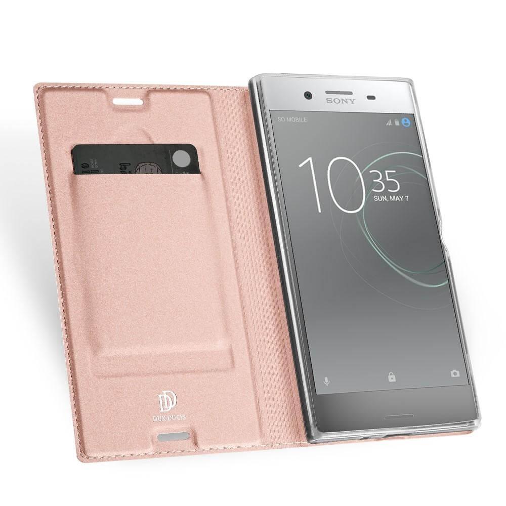 DUX Flipové púzdro Sony Xperia XZ Premium ružové