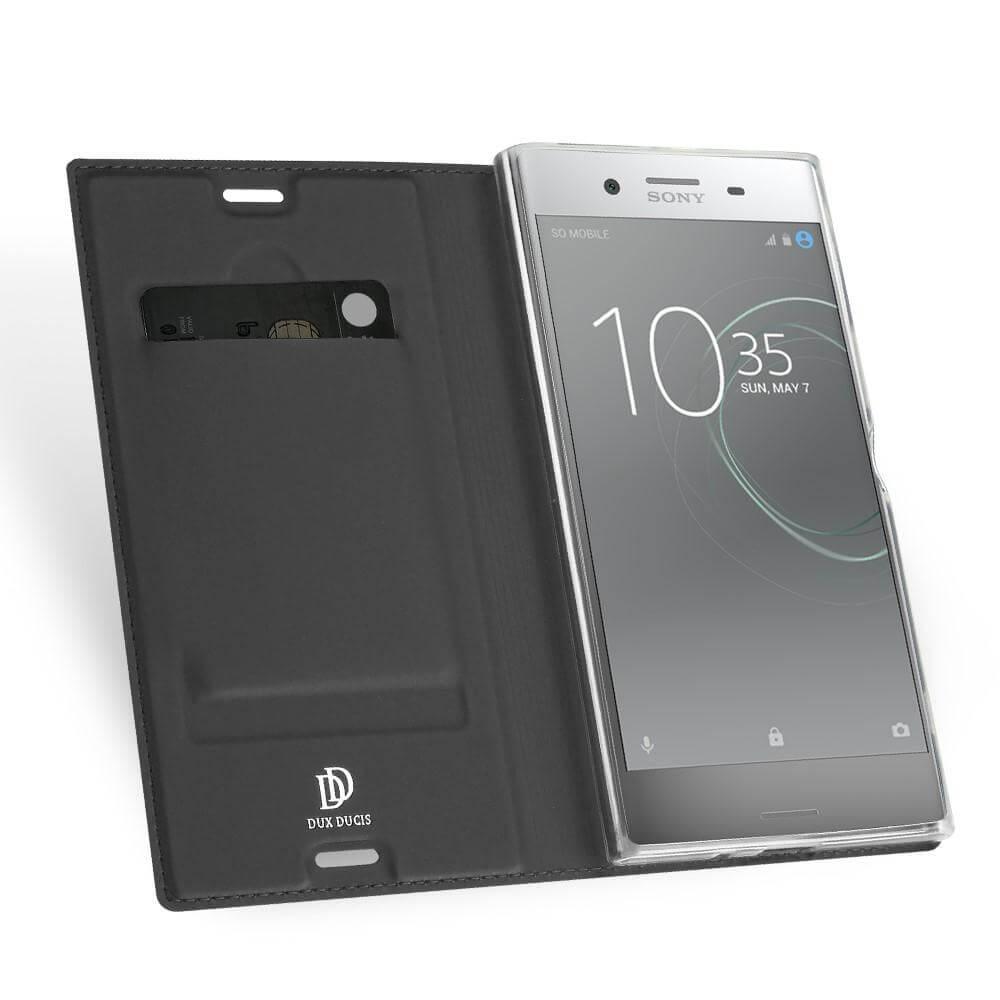 DUX Flipové púzdro Sony Xperia XZ Premium šedé