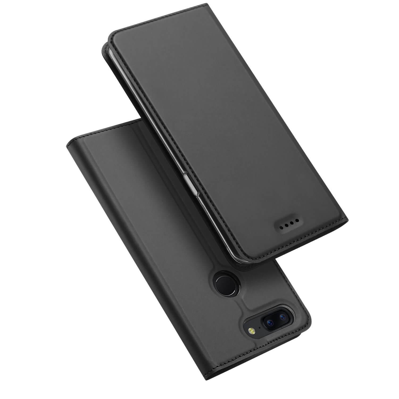 DUX Peňaženkový obal OnePlus 5T šedý