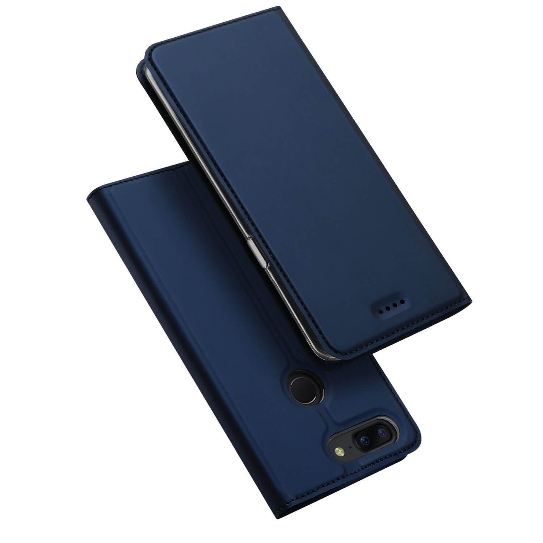 DUX Peňaženkový obal OnePlus 5T modrý